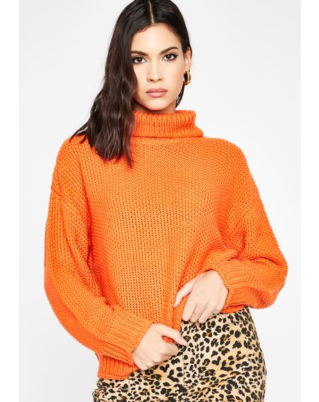 Pumpkin Spice Turtleneck Sweater
