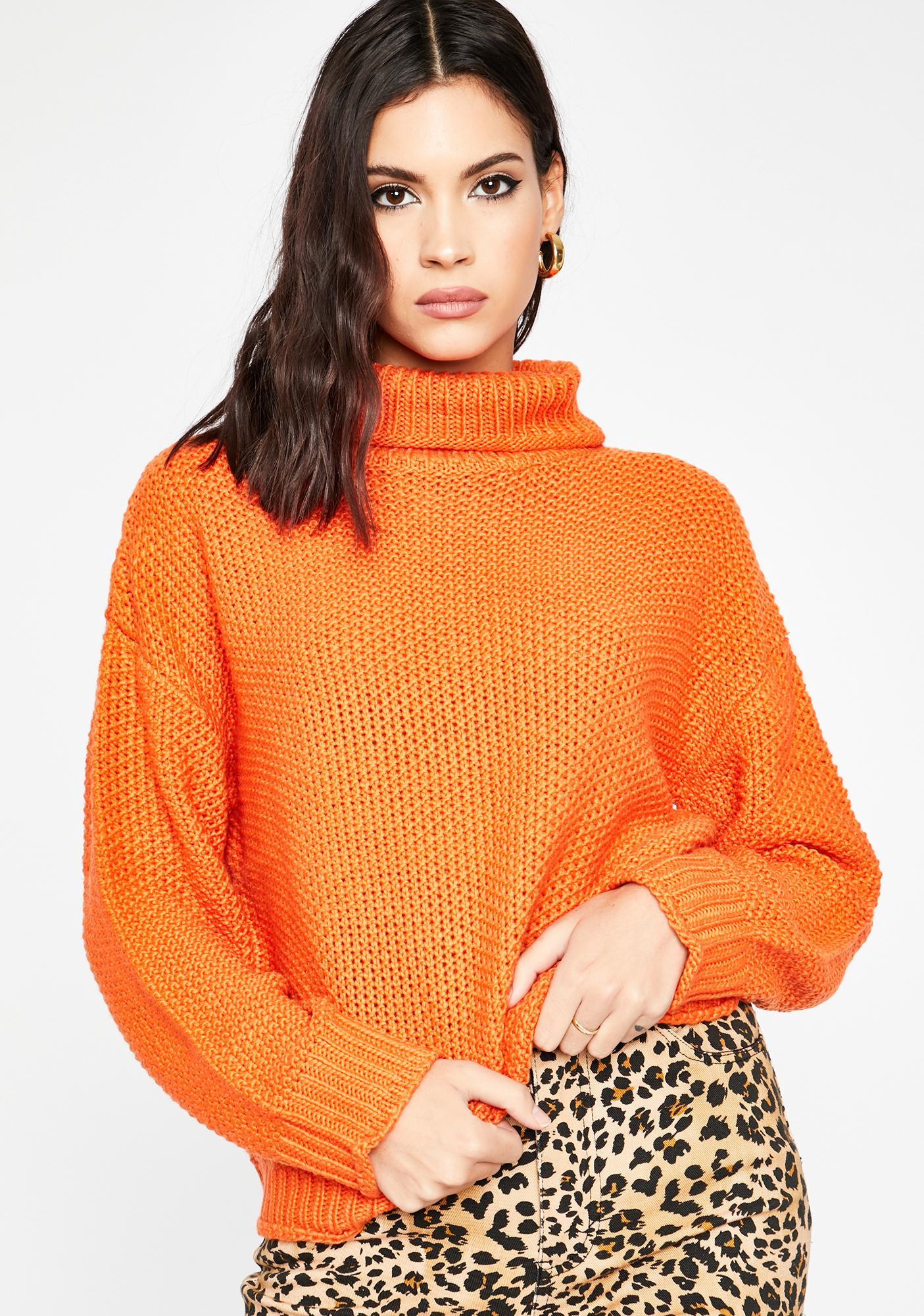 Pumpkin Spice Turtleneck Sweater