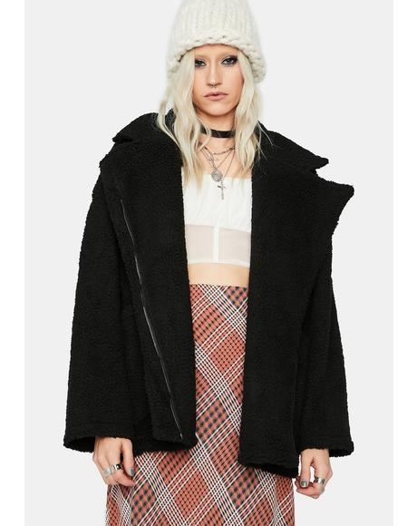 Teen Angst Oversized Faux Fur Jacket
