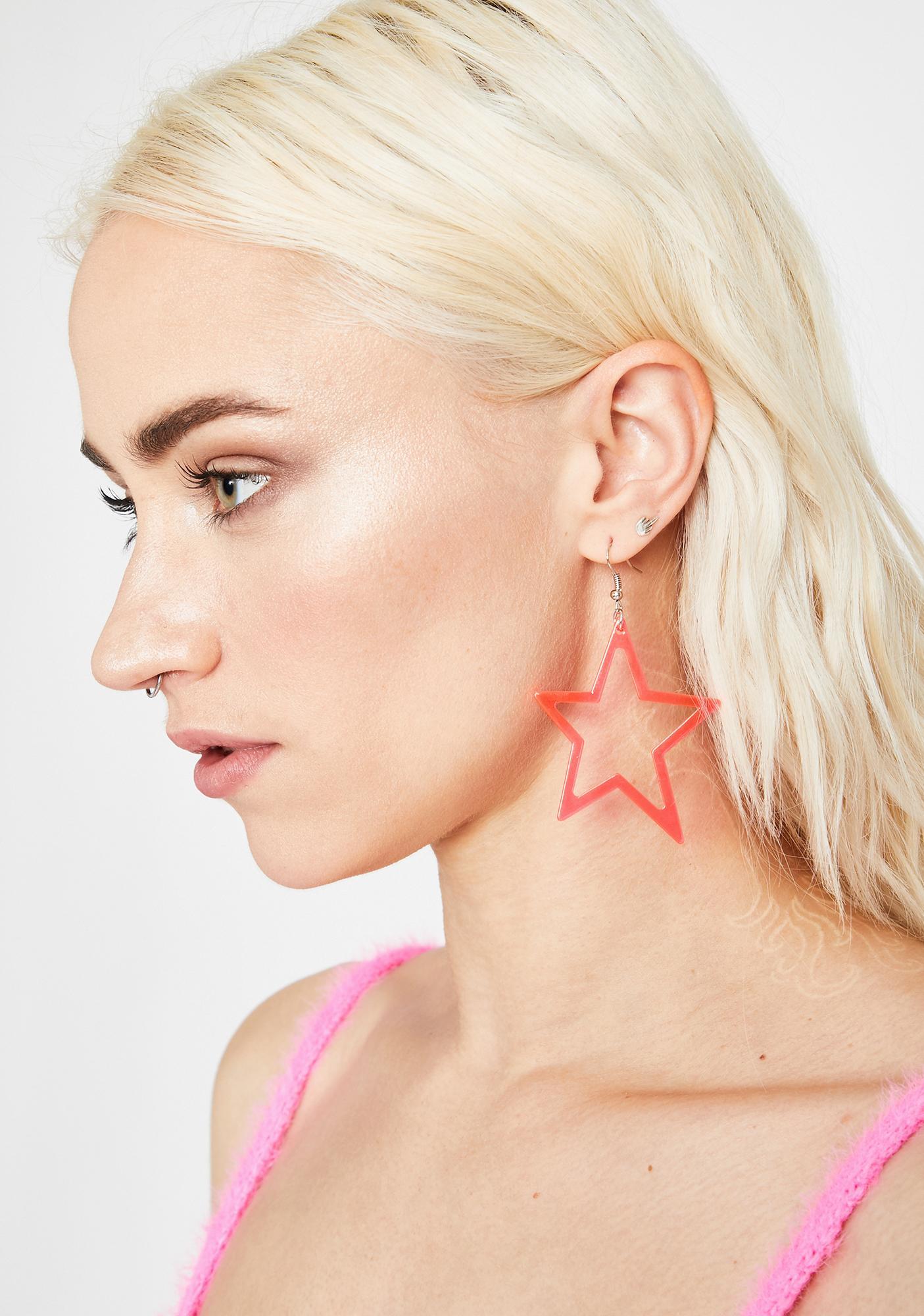 Sweet My Clarity Star Earrings