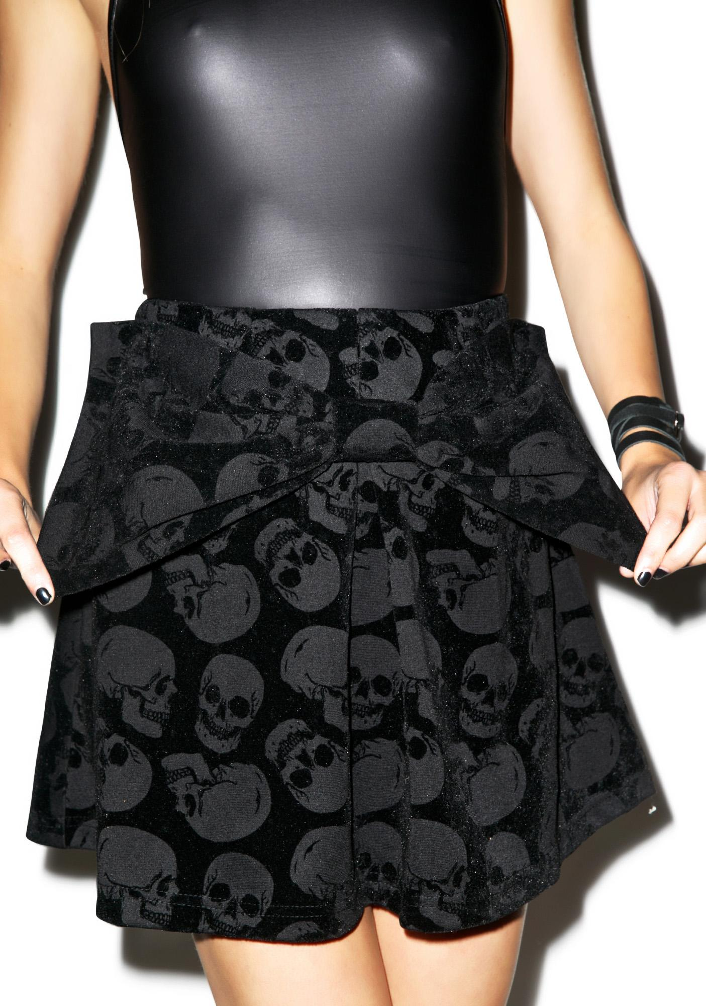 Iron Fist Skulls Club Bow Skirt