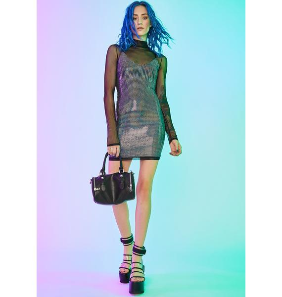 Current Mood Cyber Disco Mini Dress