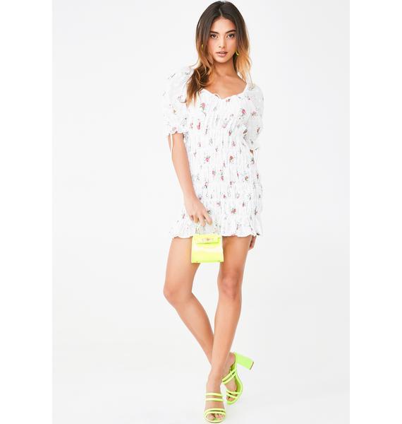 For Love & Lemons Tarte Eyelet Smocked Dress