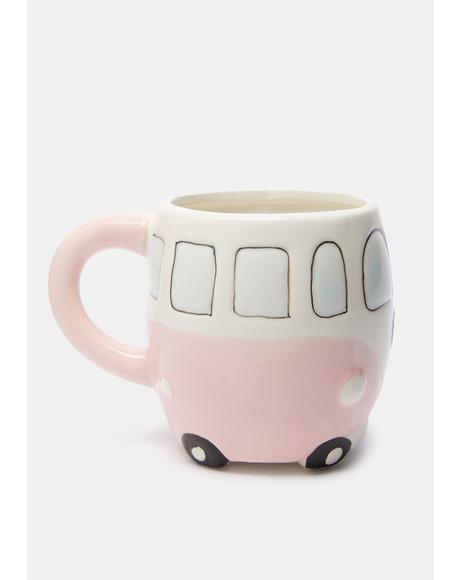 Pink Camper Van Mug