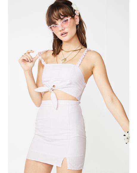 Peekaboo Sweetheart Skirt Set