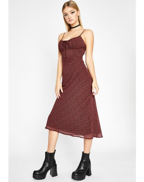 Noir Garden Junkie Midi Dress