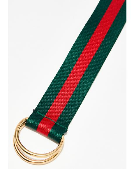 Olive Blurred Lines Belt