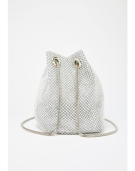 Chrome Bling Empress Bucket Bag