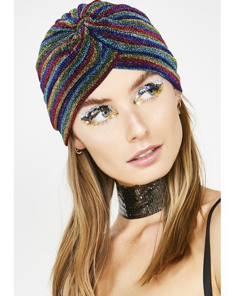 Groovy Vibez Shimmer Stripe Hat
