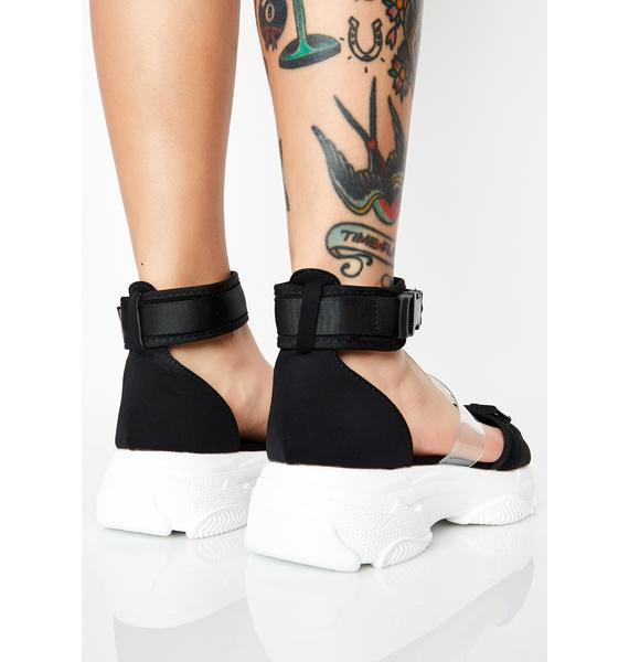 Noir So Fresh N' Clean Platform Sandals
