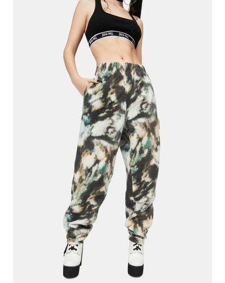 Mottled Fleece Joggers