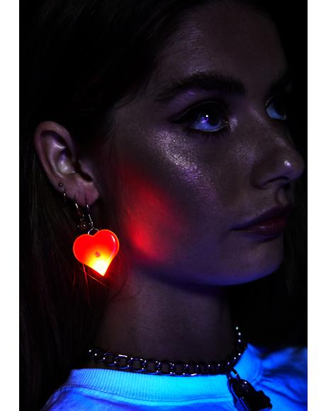 Bleeding Heart Light Up Earrings