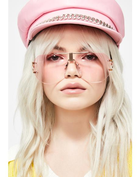 Bubblegum Techie Temptress Clear Glasses
