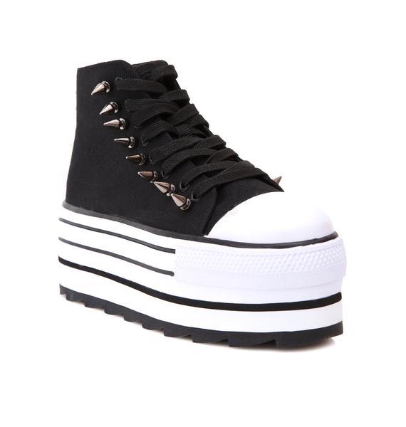 Y.R.U. Spiked Elevation Platform Sneakers