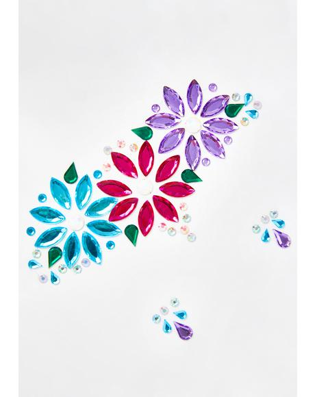 Electro Flower Face Gems