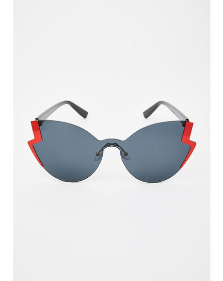 Electric Edge Oversized Sunglasses