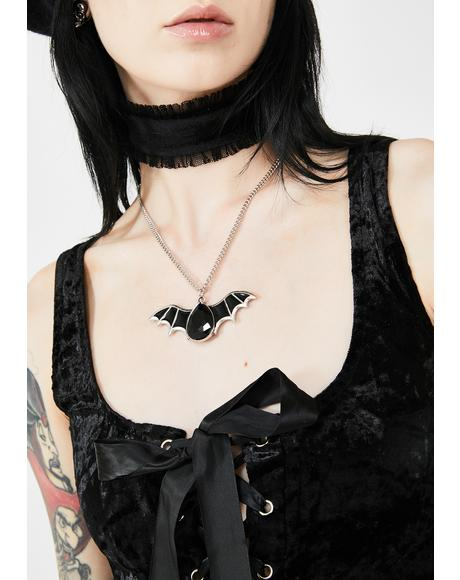 Earthly Gem Bat Necklace
