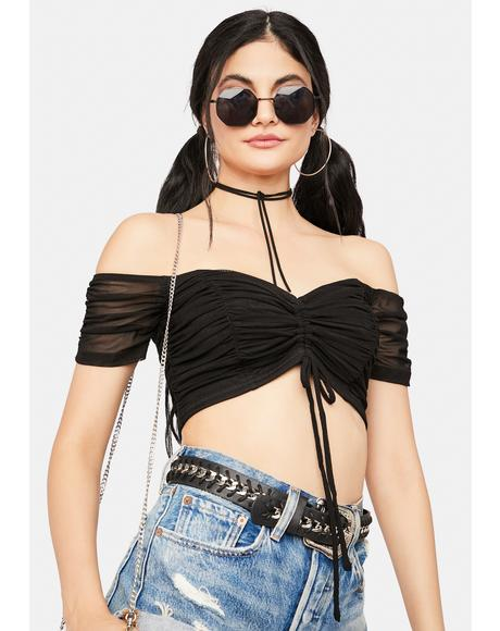 Instant Classic Off The Shoulder Crop Top