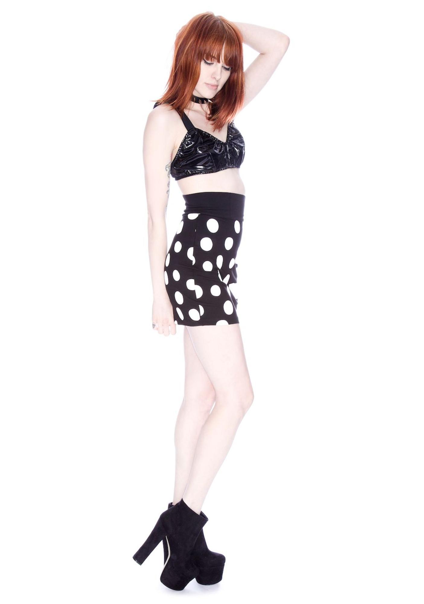 Lazy Oaf Spot V Stripe Skirt