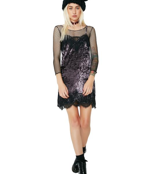 All Falls Down Velvet Lace Dress