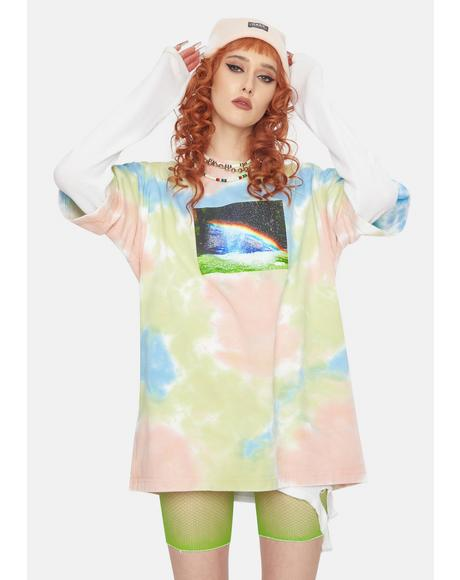 Rainbow Tie Dye Graphic Tee
