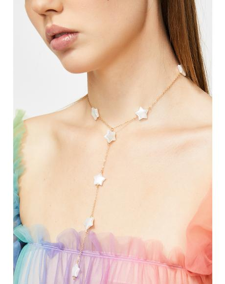 Celestial Paths Star Necklace