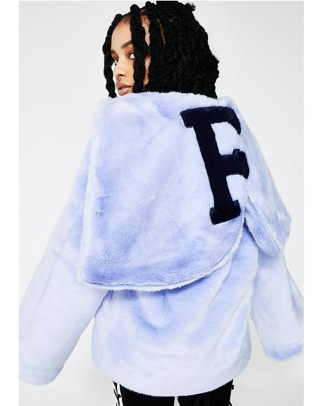 FENTY PUMA By Rihanna Faux Fur Shawl Collar Jacket