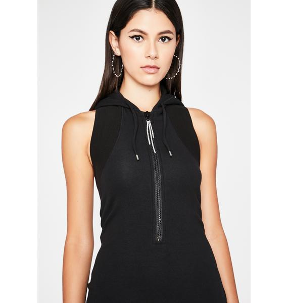 Blackout Or Burnout Hoodie Dress