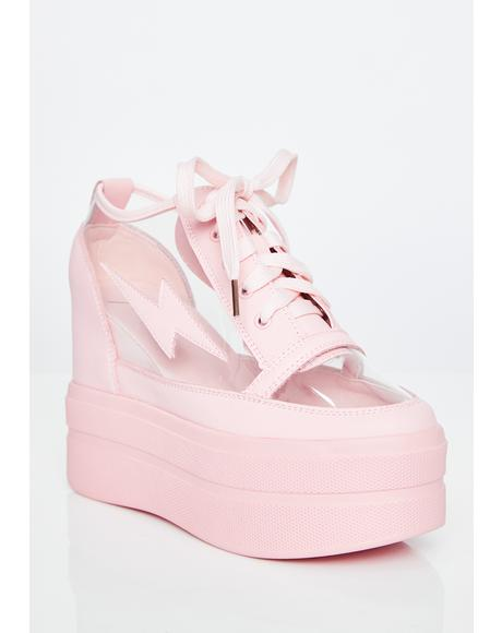 Candy Crystal Shockwave Platform Sneakers