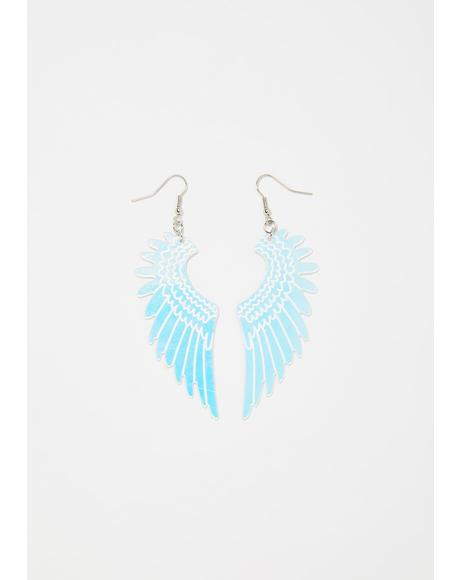Wings Of An Angel Iridescent Earrings