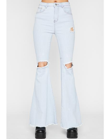 Groovin' Groupie Denim Flares