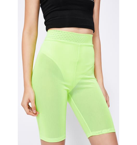 Fluoro Freak Biker Shorts