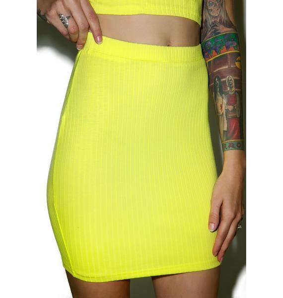 Citrine Mini Skirt