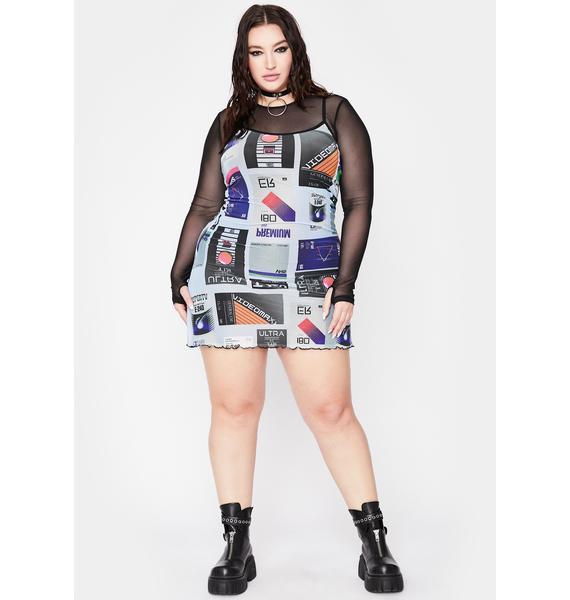 Current Mood True Video Vixen Mini Dress