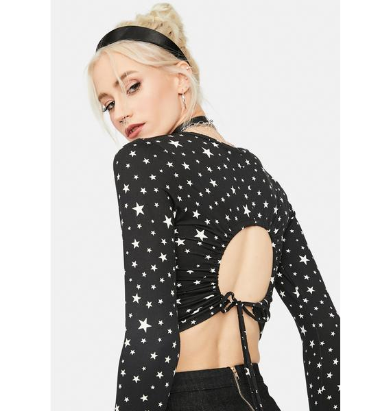 Stars Are Blind Cutout Crop Top