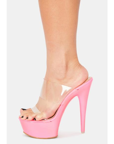 Meet Me Later Clear Heels