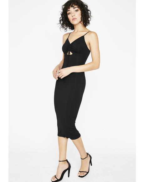 Right Moves Midi Dress