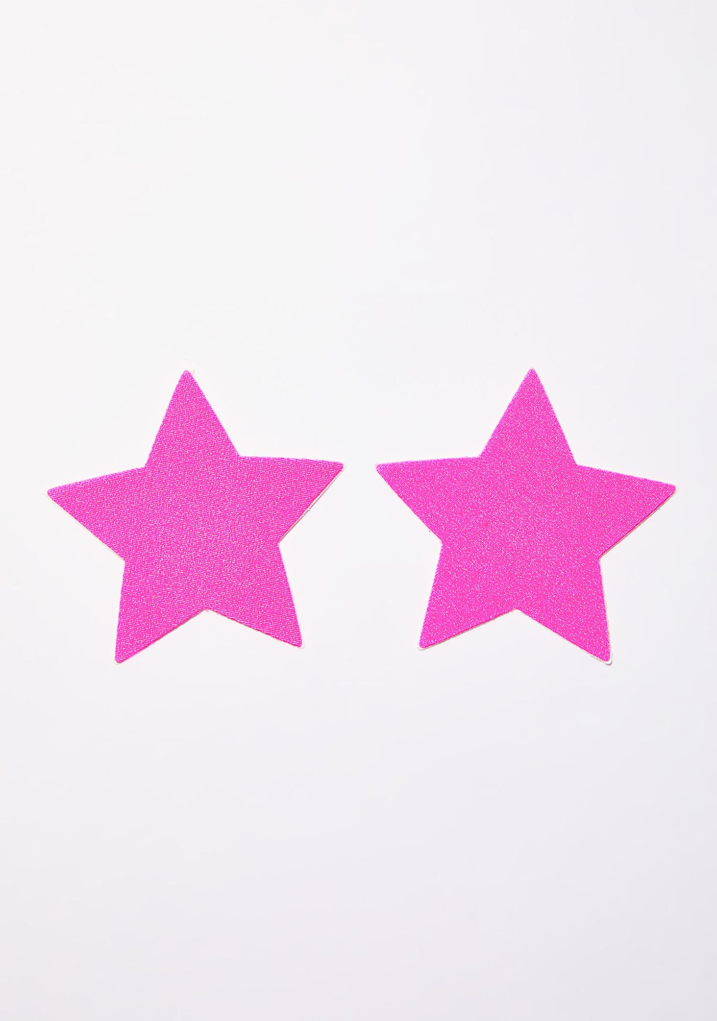 Pastease Neon Pink Day-Glow Star Pasties