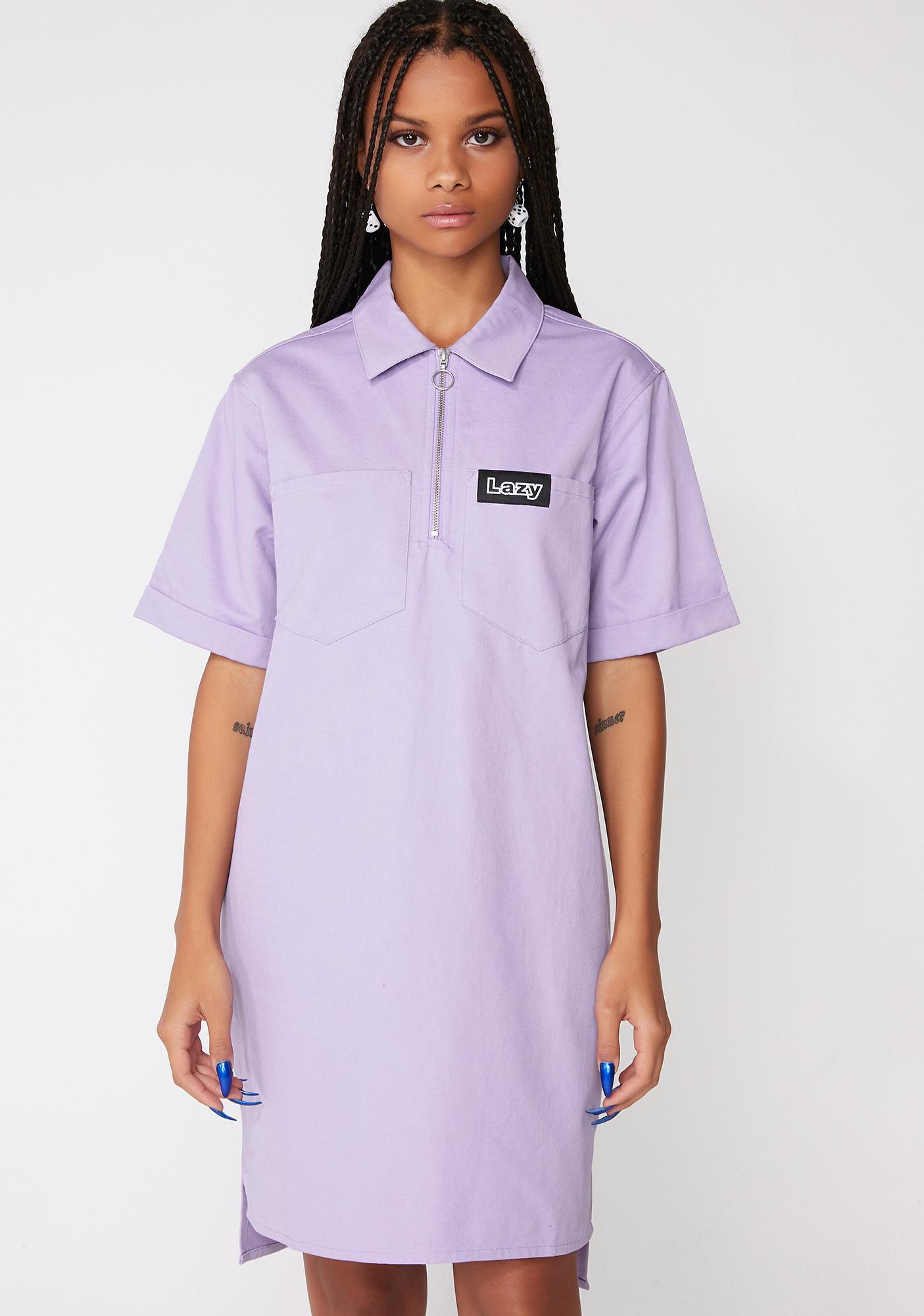 Lazy Oaf Lazy Face Shirt Dress
