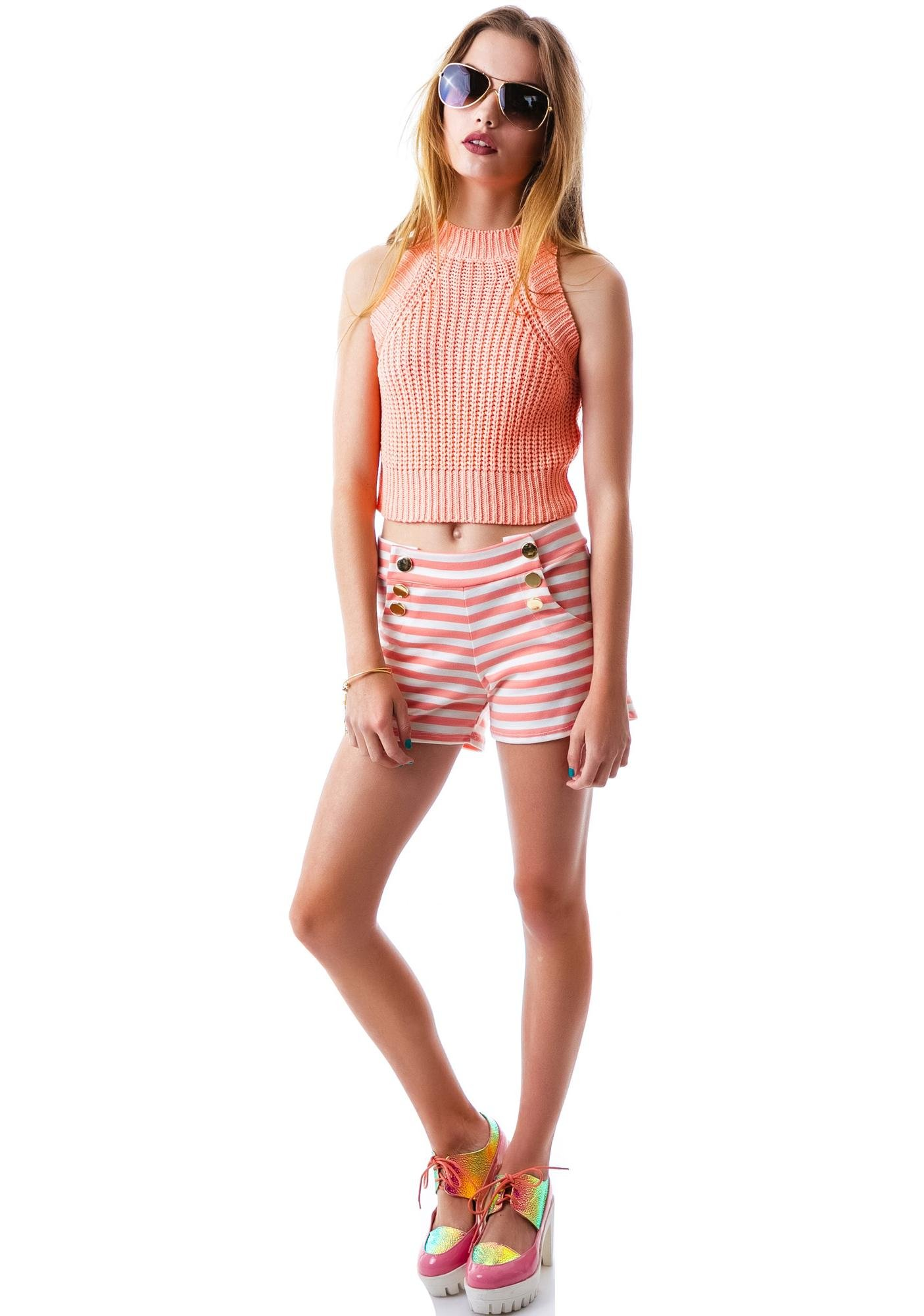 Summer Sun Knit Crop Tank