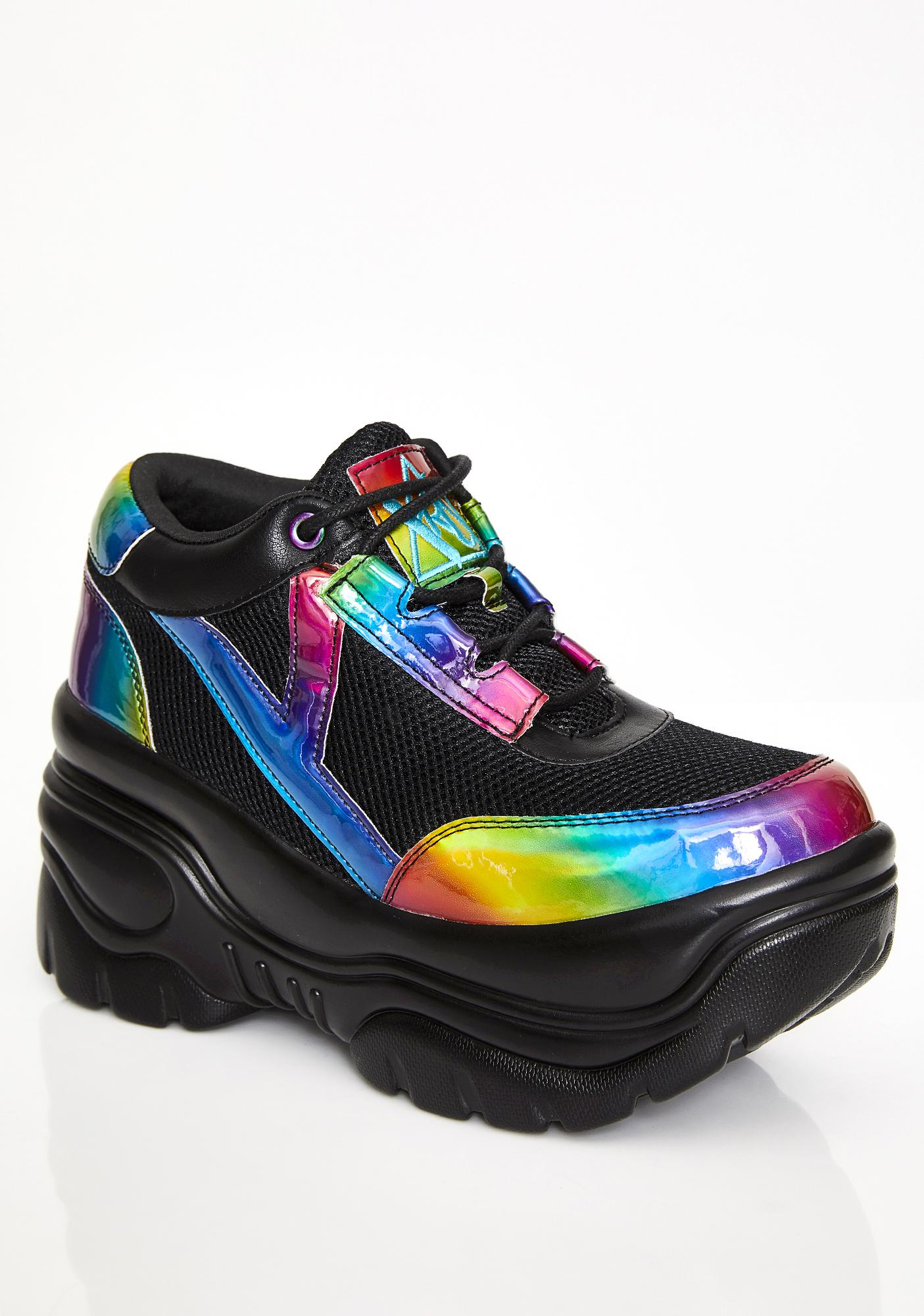 Y.R.U. Rainbow Matrixx Platform Sneakers