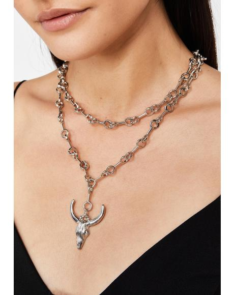 Cut The Bull Layered Necklace