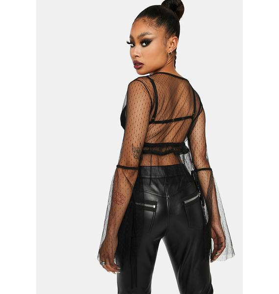 Kiki Riki Always Bad Sheer Tulle Blouse