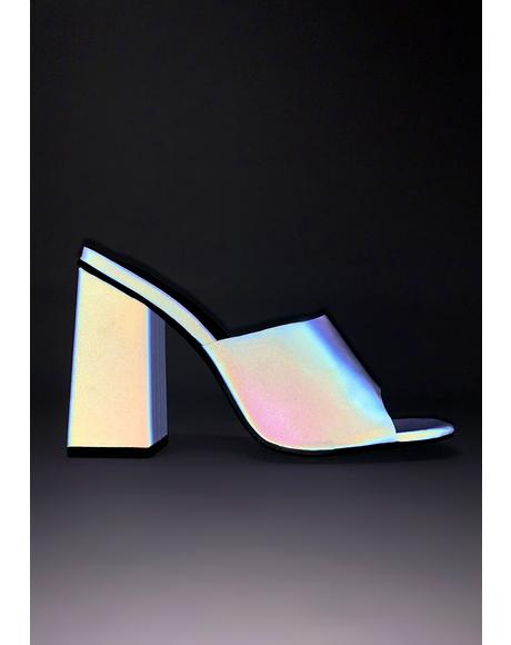 Purple Pixel Reflective Heels