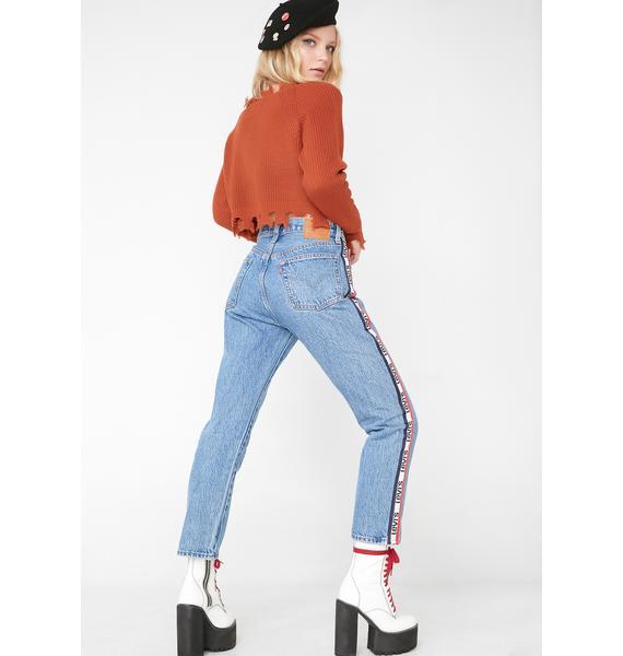 Levis 501 Crop Jeans
