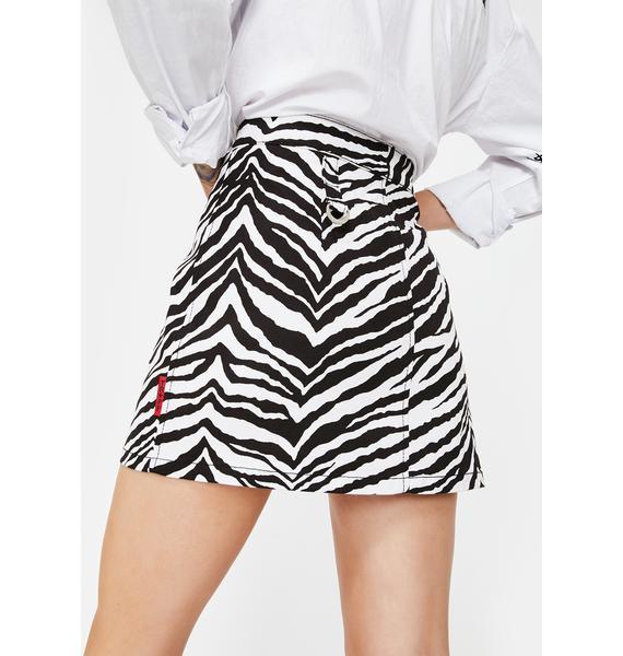 Tripp NYC Zebra Mini Skirt