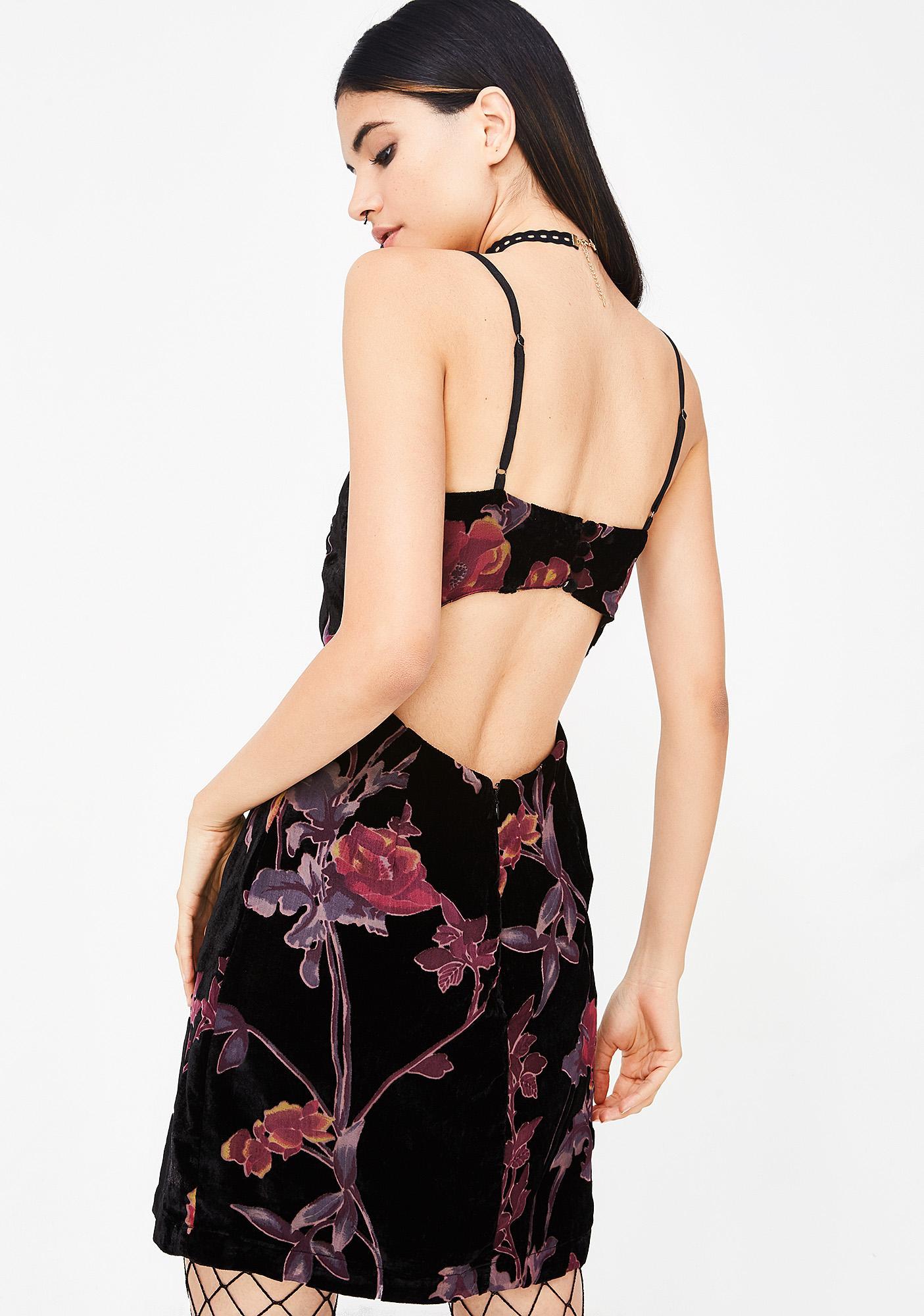 Bloom Craze Velvet Dress