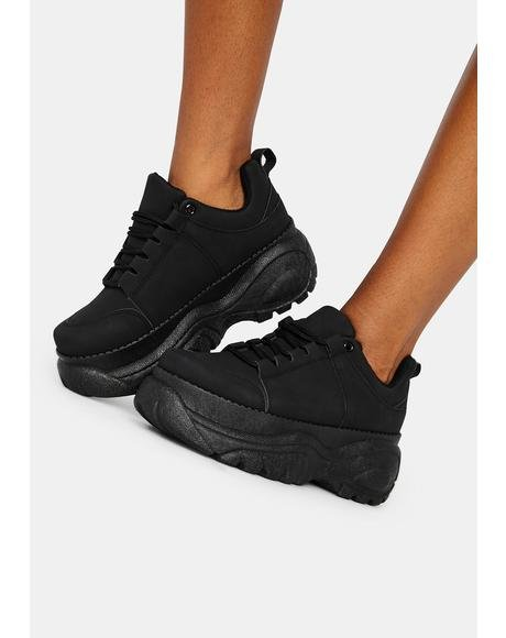 Midnight Soar High Platform Sneakers