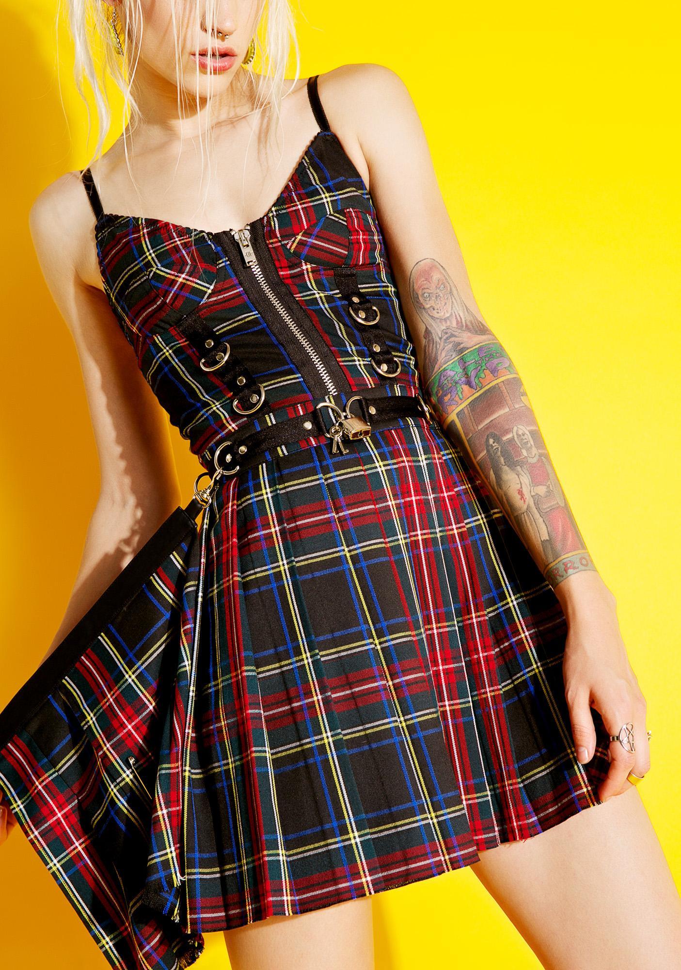 Current Mood Axel Pleated Lock-It Skirt