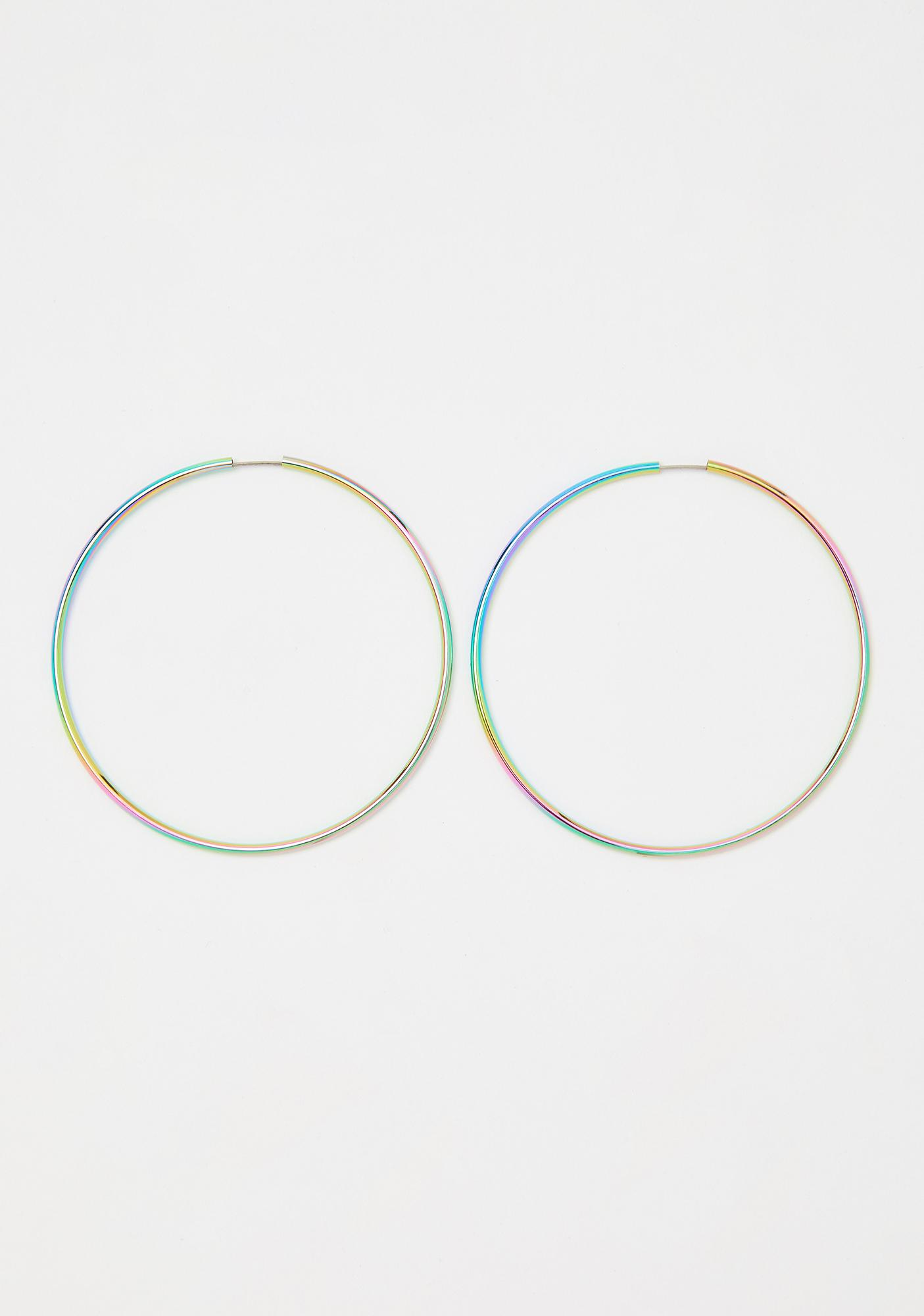 Dark Euphoria Prism Iridescent Earrings